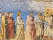 GIOTTO di Bondone The Marriage Procession of the Virgin oil painting picture wholesale