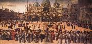 Gentile Bellini Procession in St Mark's Square oil painting picture wholesale