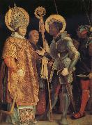 Grunewald, Matthias The Meeting of St Erasmus and St Maurice oil painting artist
