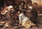 Jan Steen The Effects of Intemperance oil painting picture wholesale