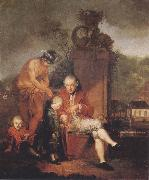 Januarius Zick Gottfried Peter de Requile with his two sons and Mercury oil painting picture wholesale