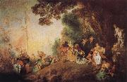 Jean-Antoine Watteau Pilgrimage to Cythera oil painting picture wholesale