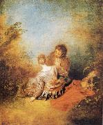 Jean-Antoine Watteau The Indiscretion oil painting picture wholesale