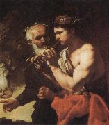 Johann Carl Loth Mercury piping to Argus oil painting picture wholesale