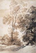 John Constable Landscape with trees and deer,after Claude july 1825 oil painting picture wholesale