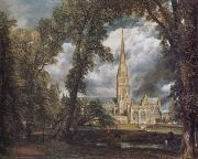 John Constable Salisbury Cathedral from the Bishop's Grounds oil painting picture wholesale