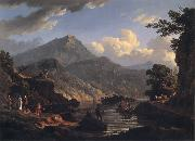 John Knox Landscape with Tourists at Loch Katrine oil painting artist