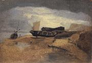 John sell cotman Seashore with Boats oil painting picture wholesale