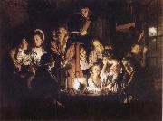 Joseph wright of derby Experiment iwth an Airpump oil painting picture wholesale