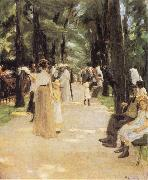 Max Liebermann The Parrot Walk at Amsterdam Zoo oil painting picture wholesale
