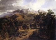 Nicholas Chevalier The Buffalo Ranges,Victoria oil painting picture wholesale