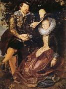 Peter Paul Rubens Rubens with his first wife Isabella Brant in the Honeysuckle Bower oil painting picture wholesale