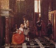 Pieter de Hooch The Card-Players oil painting picture wholesale