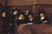 REMBRANDT Harmenszoon van Rijn Tthe Syndics of the Amsterdam oil painting picture wholesale