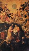ROELAS, Juan de las Adoration of the Name of Fesus oil painting artist