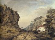 Samuel Hieronymous Grimm Cresswell Crags oil painting artist