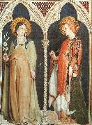 Simone Martini St Clare and St Elizabeth of Hungary oil painting picture wholesale
