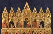 Simone Martini Madonna with Child and Saints oil painting picture wholesale