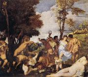 Titian Bacchanalia oil painting picture wholesale