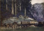 William Blamire Young When the hore team came to Walhalla oil painting picture wholesale