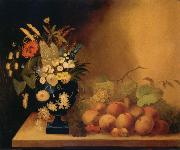 William Buelow Gould Flowrs and Fruit oil painting artist
