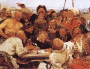 llya Yefimovich Repin Zaporozhian Cossacks oil painting reproduction