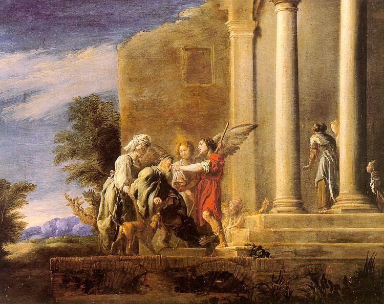 Domenico  Feti The Healing of Tobit oil painting image