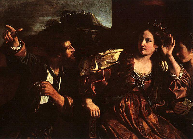 Giovanni Francesco  Guercino Semiramis Receiving Word of the Revolt of Babylon oil painting picture