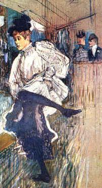 Henri  Toulouse-Lautrec Jane Avril Dancing oil painting image