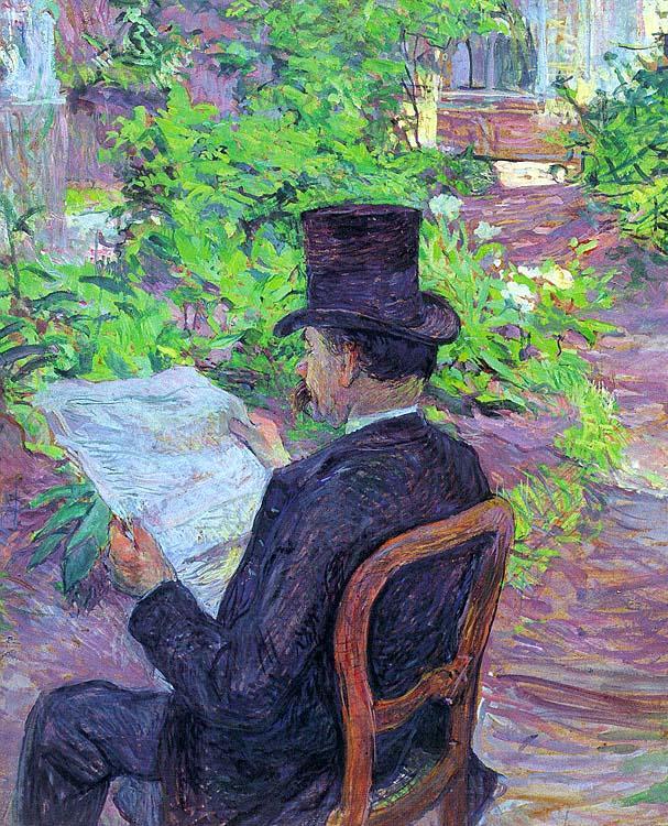 Dihau de d sir lisant un journal dans le jardin henri toulouse lautrec les re - Le journal de toulouse ...