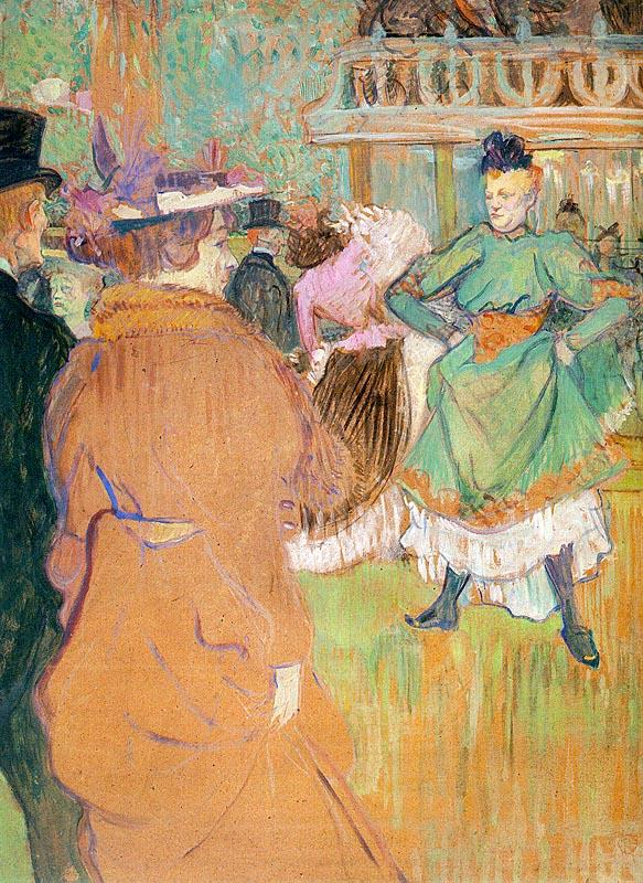 Henri  Toulouse-Lautrec The Beginning of the Quadrille at the Moulin Rouge oil painting image