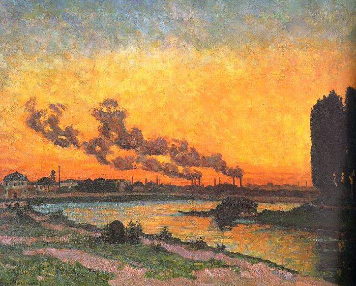 J B Armand  Guillaumin Sunset at Ivry oil painting image