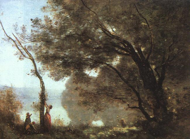 Jean Baptiste Camille  Corot Souvenier de Mortefontaine, salon of 1864 oil painting image