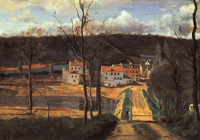 Jean Baptiste Camille  Corot Ville d'Avray The Pond and the Cabassud House oil painting image