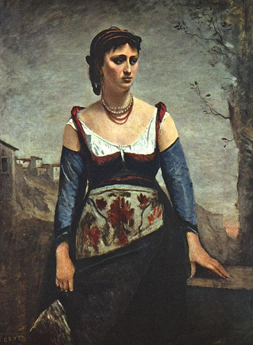 Jean Baptiste Camille  Corot Agostina2 oil painting image