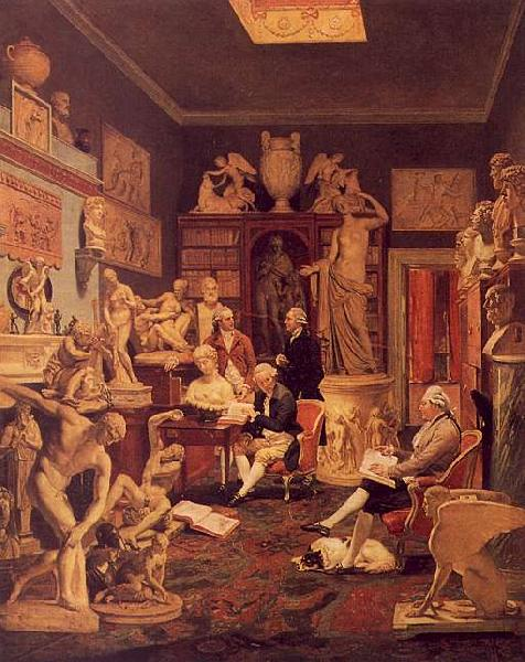 Johann Zoffany Charles Towneley's Library in Park Street oil painting image
