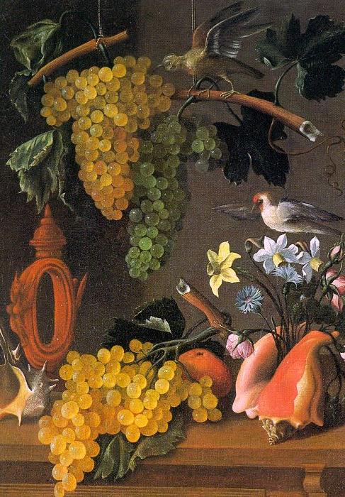 Juan de  Espinosa Still Life with Grapes  6 oil painting image