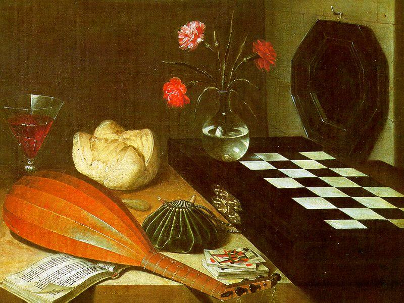 Lubin Baugin Still Life with Chessboard oil painting image