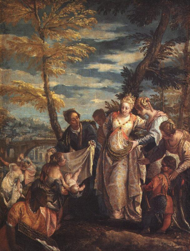 Paolo  Veronese The Finding of Moses-y oil painting image
