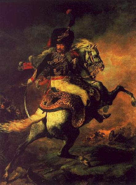 Theodore   Gericault Officer of the Hussars oil painting image