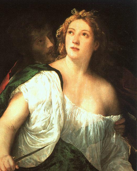 Titian Suicide of Lucretia oil painting image