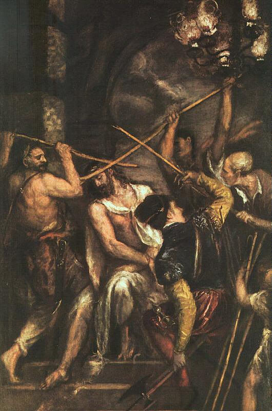 Titian Crowning with Thorns oil painting image