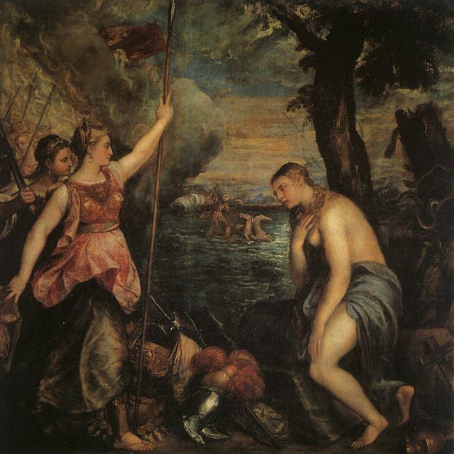 Titian Spain Succoring Religion oil painting image