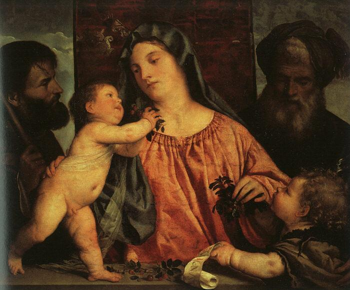 Titian Madonna of the Cherries oil painting image