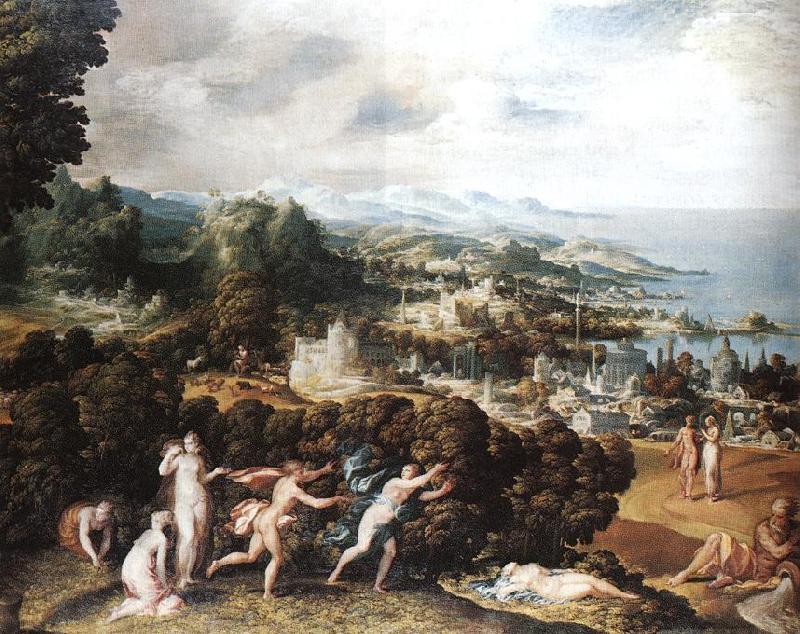 ABBATE, Niccolo dell Orpheus and Eurydice France oil painting art