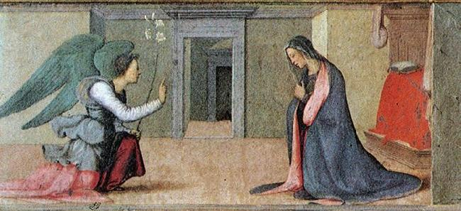 ALBERTINELLI  Mariotto Annunciation_00 France oil painting art