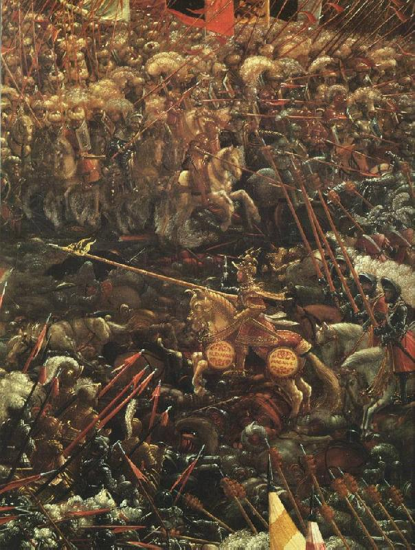 ALTDORFER, Albrecht The Battle of Alexander (detail)  vcvv oil painting image