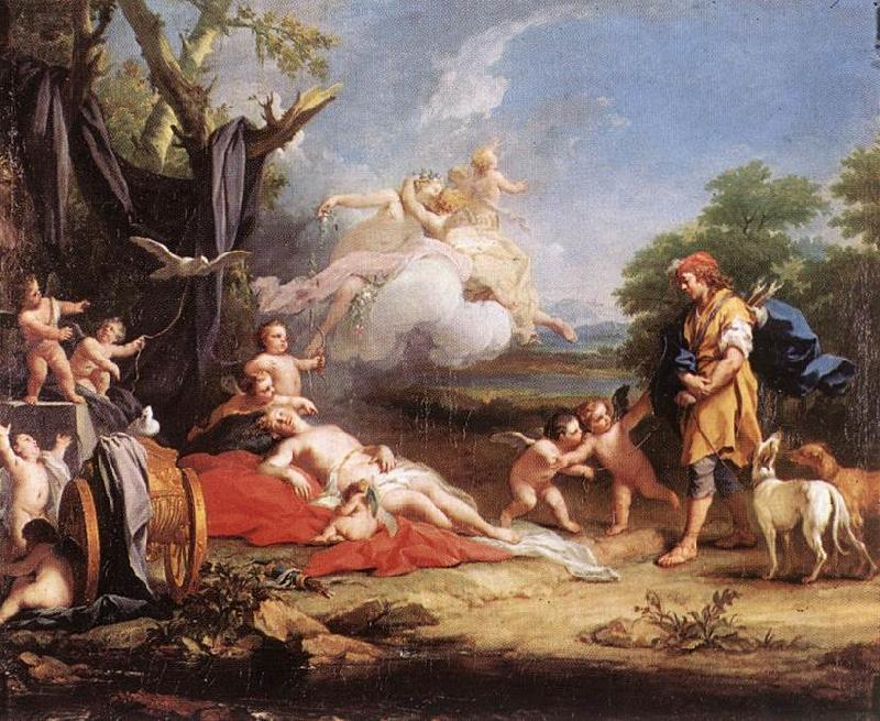 AMIGONI, Jacopo Venus and Adonis ssd France oil painting art