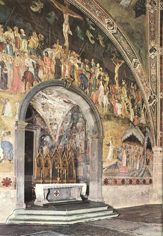 ANDREA DA FIRENZE Frescoes on the central wall oil painting image
