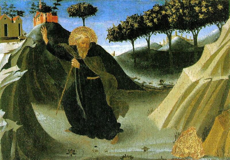 ANGELICO  Fra Saint Anthony the Abbot Tempted by a Lump of Gold France oil painting art